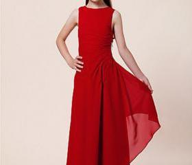 Red Formal Wear Special Occasion Long Girl Pageant Dresses