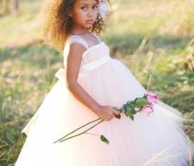 Custom Made Pleats Flower Girls' Dresses Toddler Ball Gown Kid Dresses
