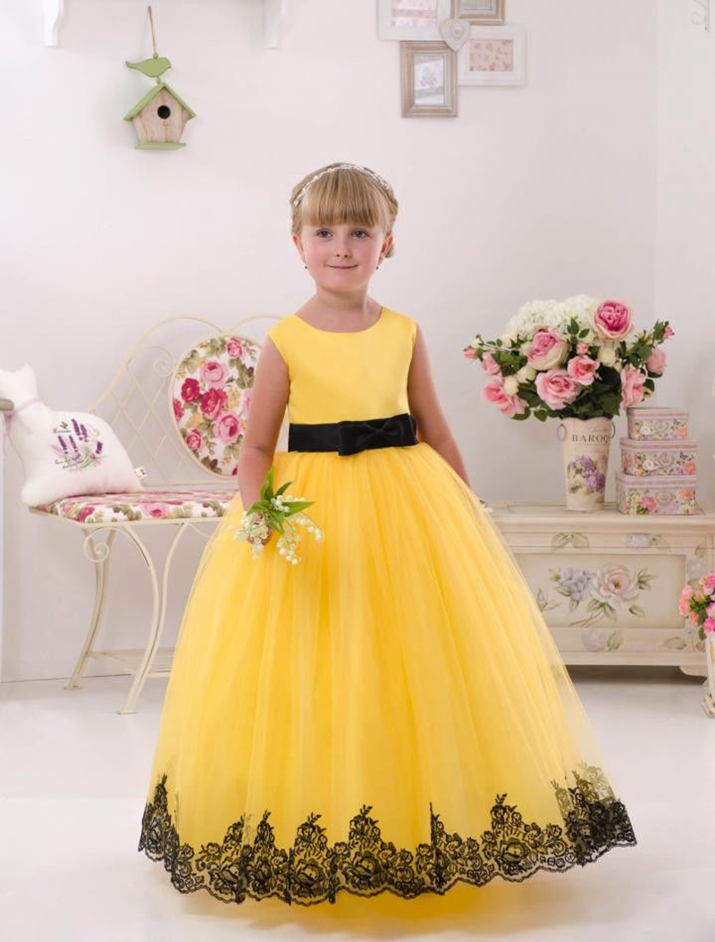 Cute Yellow Girl Pageant Dress For Wedding Toddler Ball Gown on Luulla