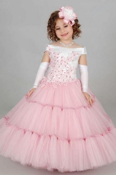 Beautiful Prom Dresses Children Toddler Ball Gown Formal Girl Dresses
