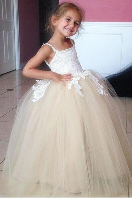 New Puffy Girl Formal Clothing Toddler Ball Gown Flower Girl Dresses