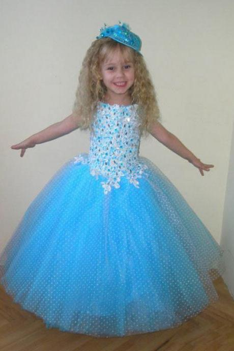 Formal Girl Clothing Lace Sequin Flower Girl Dresses Party Holiday Gown