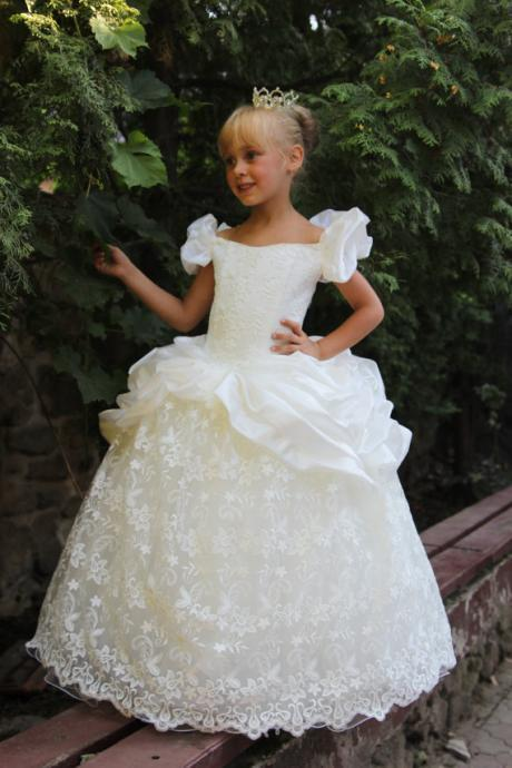 Toddler Ball Gown Girls Long Pageant Dresses for Wedding Party