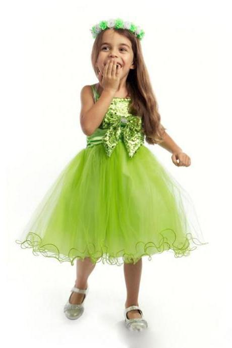 Cute Light Green Short Girl Beauty Dress Wedding Party Gown