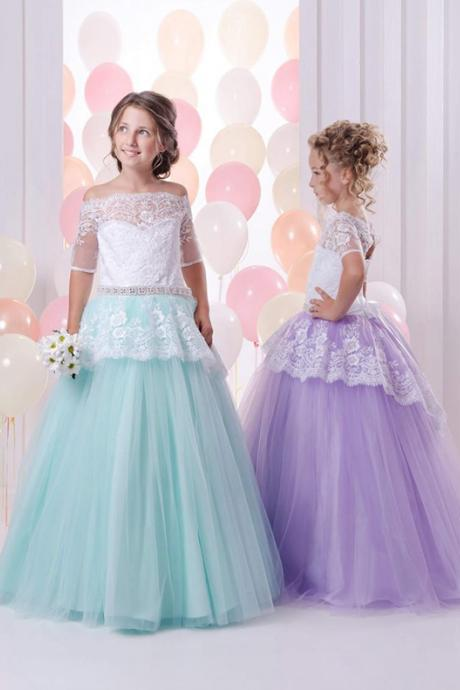 Beautiful Flower Girl Wedding Dresses Child Pageant Dresses