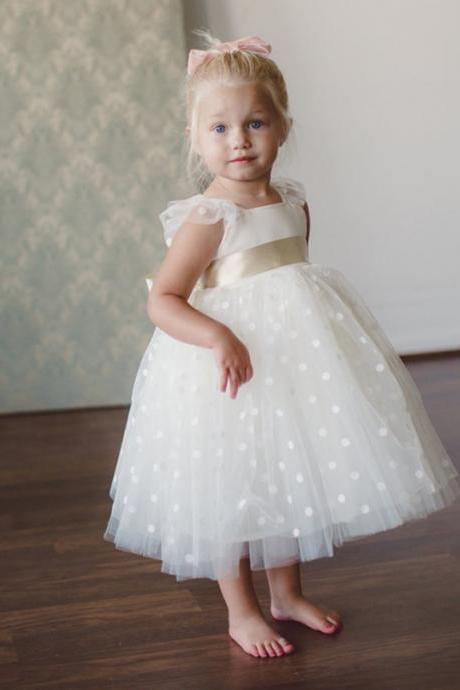 New Arrival Custom Made Cute Flower Girl Dress for Wedding Party