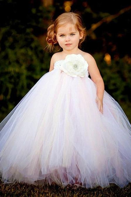 Custom Made Cute Puffy Girl Beauty Dress for Wedding Party Flower Girl Dresses
