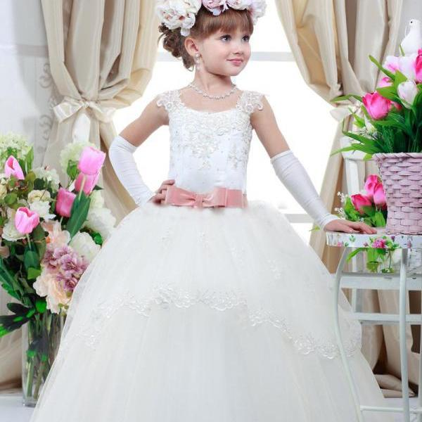 Custom Made Toddler Ball Gown Party Evening Gowns Formal Girl
